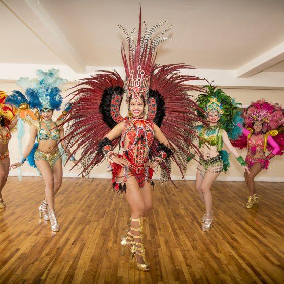 Les Passistas qui sont des danseuses de samba lors du Carnaval.