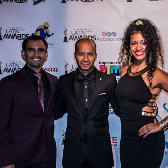 Les directeurs de l'Academia Samba Jeri en compagnie du Directeur Artistique de Gala des LATIN AWARD CANADA 2018.